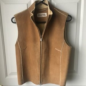Michael Kors Leather Shearling Vest